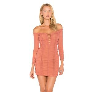 Majorelle Darling Lace-up Dress